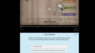 Interactive videos with embedded quiz modules require students to pause and reflect.