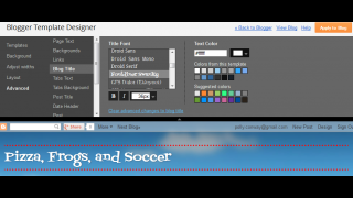 Template Designer allows kids to give their blogs visual personality.