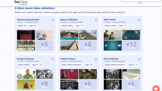 Check out curated collections of videos by topic.
