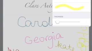 Add images from the camera roll or draw originals in-app.