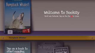 Limited help text is available through overlaid text on the app's bookshelf and book sections.