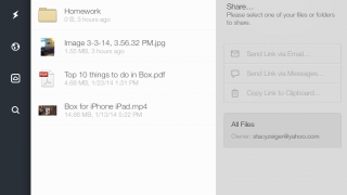 Share files with others.