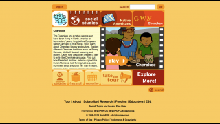 Each video section features the video itself, plus some explanatory text and lesson plans.