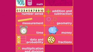 Videos and learning units cover a wide variety of math topics.