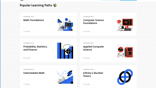 Courses are grouped into Learning Paths.