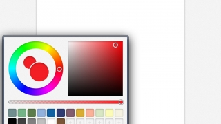 Color wheel displays a multitude of beautifully nuanced shades for students to choose from.