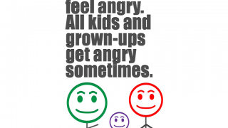 The social story helps kids realize everyone feels negative emotions and learn how to calm them.