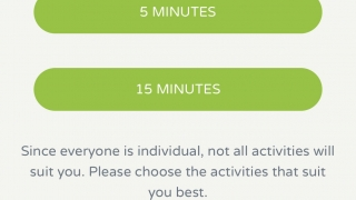Select a five- or 15-minute activity.