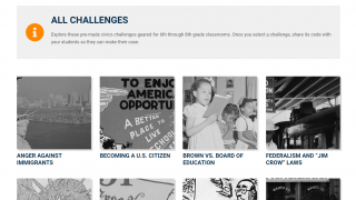 Teachers and students can choose from 20 premade challenges.