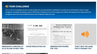 Each challenge incorporates a range of primary sources.