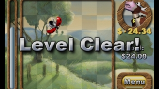 When the whole level is cleared, the target number increases and more buying choices appear.
