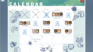 The calendar helps students keep track of Town Hall events.
