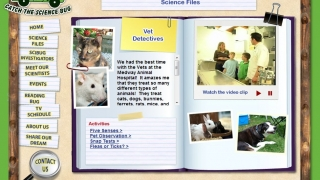 Vet Detectives is one of the science files with a video and a set of related activities.