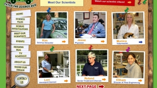 """Meet Our Scientists"" highlights nine different people in science or engineering careers."