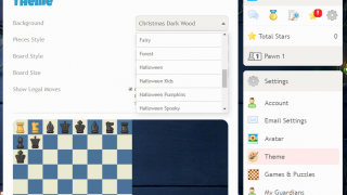 Check out the options for personalized themes and board styles.