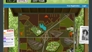 The City Map allows users to go to any available location.
