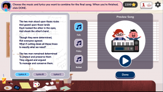 Finalize song lyrics and choose a song style.