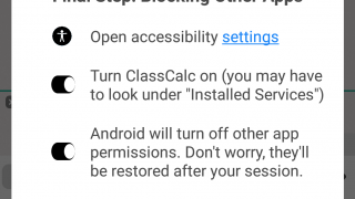 Devices are locked into the app during test mode.