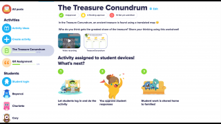 Assign critical thinking activities from the Conundrum Library.