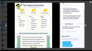 Assess student work and give feedback from your dashboard.