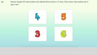 Students can choose between lessons and games.
