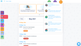 ClassTag has many features to stay connected with families.