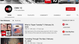 CNN 10 launched a YouTube channel in December 2019. In addition to viewing archived episodes, viewers are encouraged to subscribe and participate in discussions and polls.