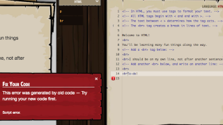 Players keep modifying the code until they accomplish the level's goals.