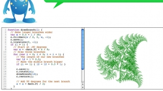 Kids can use fractals to make a fern -- pretty cool.