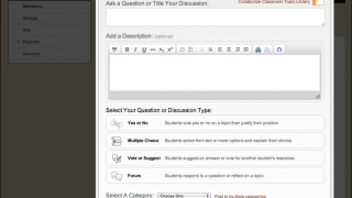 Starting a discussion is much like composing an email.