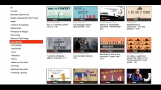 The site has short videos on a range of social studies-related topics.