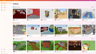 Once in, users can see that there's a sizable gallery of other people's CoSpaces.