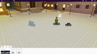 Setting up a new space is relatively straightforward through adding objects and other elements from the bottom menu.