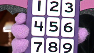 Kids choose the number from the remote control pad.