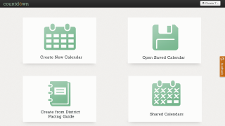 Upon login, teachers have 4 options from the homepage; the district pacing guide option was not available for review.