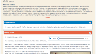 Explore! Primary Sources offers historical context and thought-provoking questions.