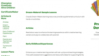 Educator resources include lessons, articles, and teaching tips and strategies.