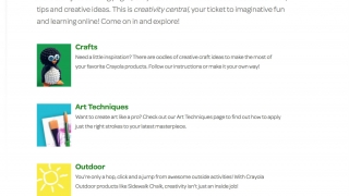 Activity ideas focus exclusively on arts-and-craft creation, or combine art with other subjects.