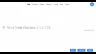 Users can create their own debates and discussions and share them publicly on the site.