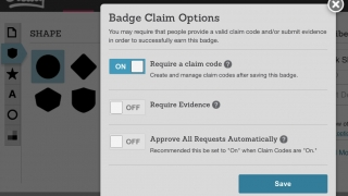 You can customize how students earn their badges.