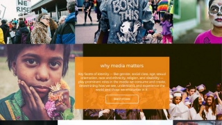The Learn More section explains why exploring identity and media matters.
