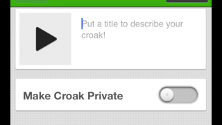 Opt to make croaks private.