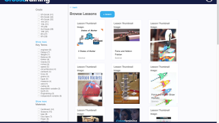 Search for lessons through various filters, or create your own lesson on the platform.