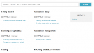 The help page offers links to a variety of resources.