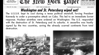 Users' actions can result in eighteen possible endings; each is revealed with a fictional newspaper headline.