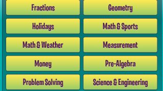 Kids can search for games and videos by topic.