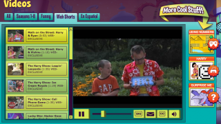 Choose from full video episodes of PBS's Cyberchase, or from web shorts. Videos are also available in Spanish.