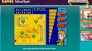 """Railroad Repair"" – a game that involves addition of decimals to complete the railroad tracks and get the trains to the station"