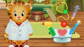 "Tap the objects to ""use"" them with Daniel Tiger; learn what they're called and what they do."