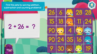 Play Pet Bingo to work on counting, addition, and subtraction.